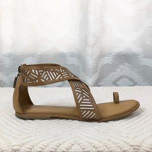 Diane Von Furstenberg Leather Sandals 8
